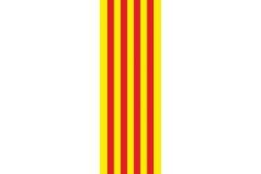 CATALUNYA -VERTICAL - 93 X 265 - anillas