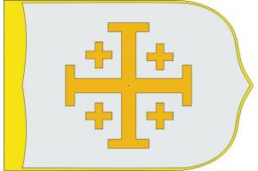 Reino Cristiano de Jerusalén estandarte