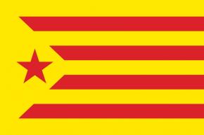 Cataluña Estelada Roja